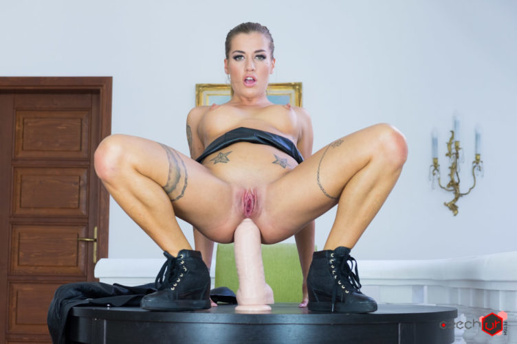 Huge Dildo in Italian Ass – Silvia Dellai