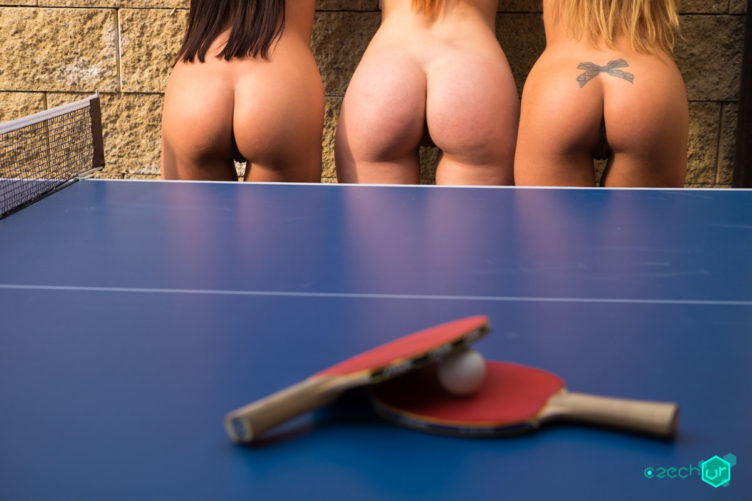Table Tennis Pussies – Charlie Red with Eveline & Silvia Dellai