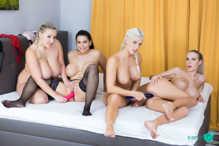 Heaven is Big Tits – Blanche Bradburry & Chloe Lamour & Florane Russell & Crystal Swift