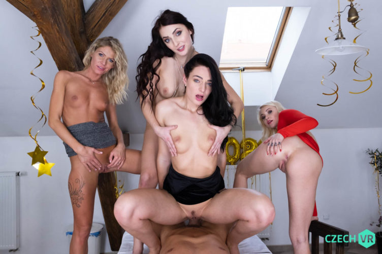 New Year's Fivesome – Katy Rose & Claudia Mac & Marilyn Sugar & Leanne Lace