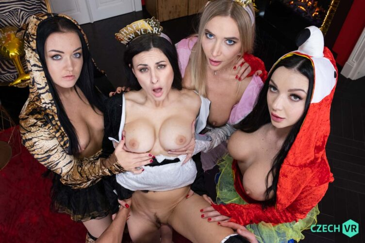 Welcoming New Year: Part 1 – Zuzu Sweet & Venera Maxima & Billie Star & Lady Gang