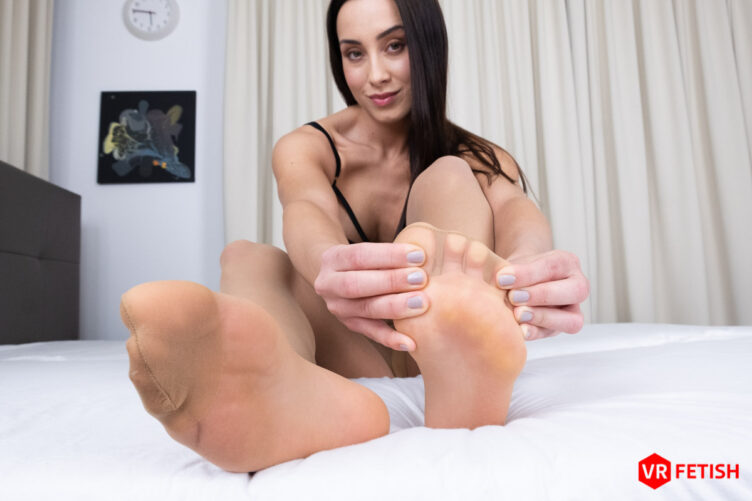 Feet in Pantyhose – Anna Rose